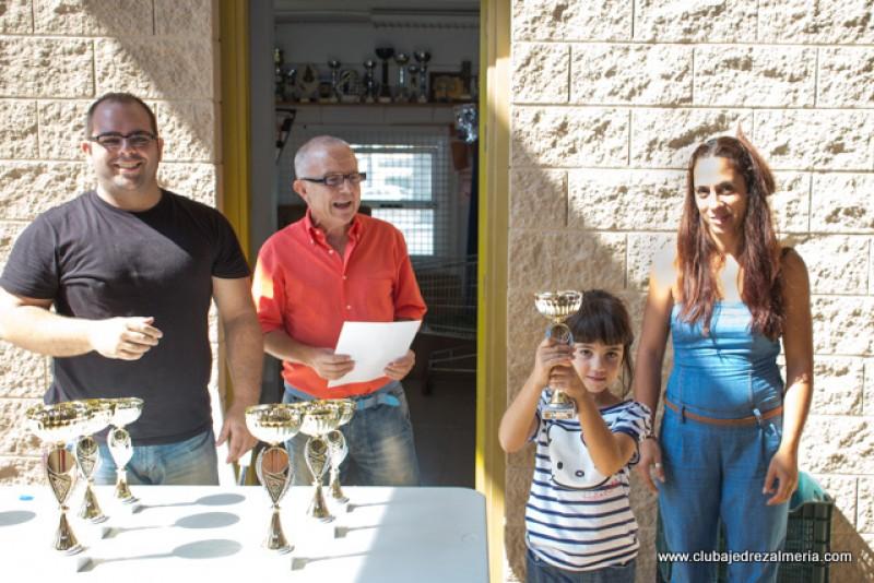 Aitana tercera sub8 en el Torneo de Fiestas de Roquetas