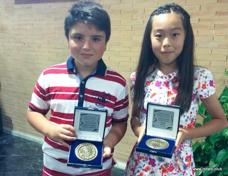 Alberto y Laura premiados en la Gala de los Juegos Deportivos Municipales 2014