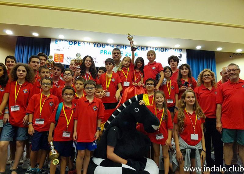 Alba, Aitana y Ciro contribuyen al tercer puesto de España en el Europeo Juvenil de Praga 2016