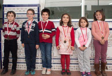 Natalia, Irene y Paola las campeonas del sub 8 de los Juegos Deportivos Municipales 2016/17