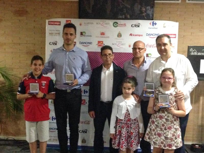 Carmen, José Manuel y Javier Ortiz premiados en la Gala de los Juegos Deportivos Municipales 2017