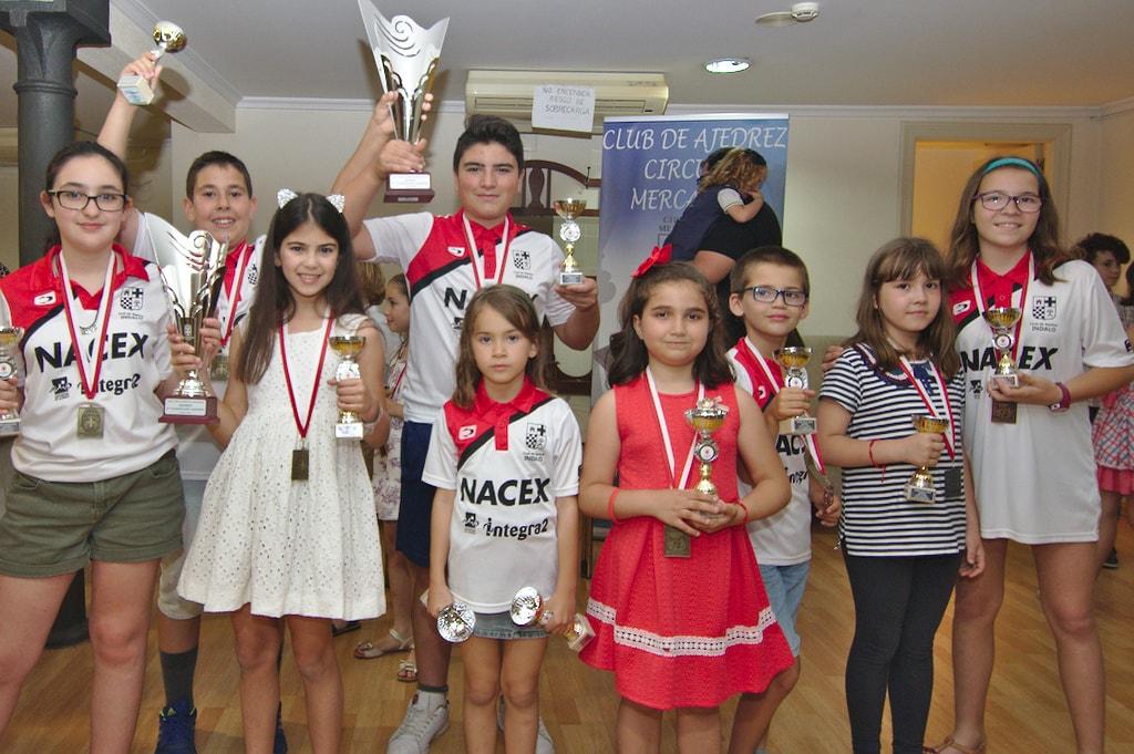 Entrega de trofeos de los XXXIII Juegos Deportivos Municipales de Ajedrez de Almería