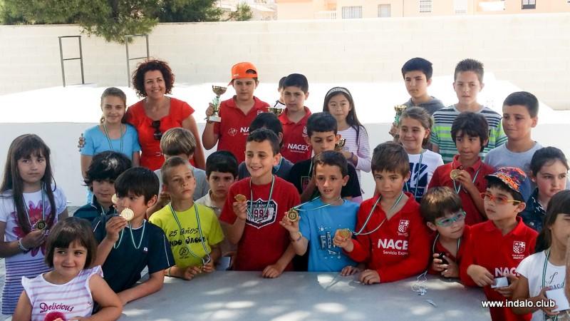 Pleno de los jugadores del Club en el Torneo de Fiestas de Huercal de Almería