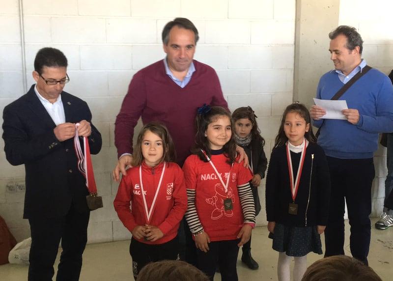 Irene y Natalia las campeonas del sub 08 de los Juegos Deportivos Municipales 2018